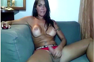 dirty shemale Strokes Her Hard jock