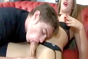 TS In lusty underware In Mutual Scene Tube Cup