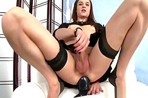 Kimberly Kills Masturbates Her ramrod And ass