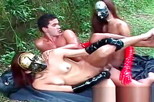 banged By Masked shelady chicks In Gloves