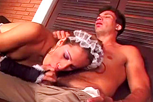 nasty lady-man Maid enjoys sucking A Hard pecker And Taking It Up Tthowdys man arse