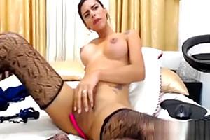 Beauty Big Tits Big Cock Colombian Shemale