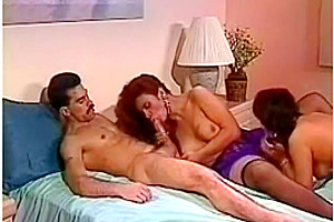 Striptease and blowjob from 2 beautiful shemales