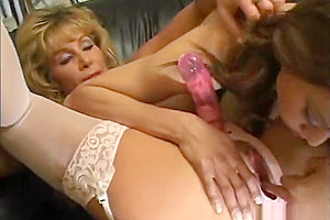 shemale Meets MILF With A strapon And her chap friend