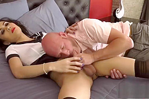 delicious shemale pooper take up with the tongue And cumshot