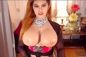biggest breasts blond ladyboy Enjoys Playing Her large 10-Pounder