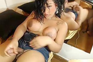 busty sheboy Masturbate Her large wang