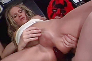 tgirl In Mask Eats A Tart With A Stra