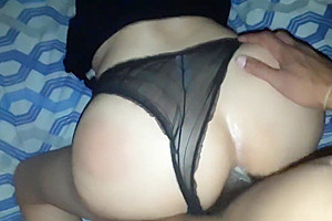 Sexy tranny couldnt resist the BBC