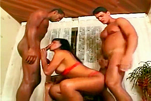 older ladyboy large ass plowing Two large cocks