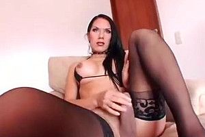 lusty TS Solo In lingerie And high heels