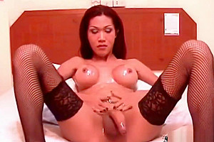 oriental shelady gets gorgeous butthole drilled And Her Bigtits ejaculated