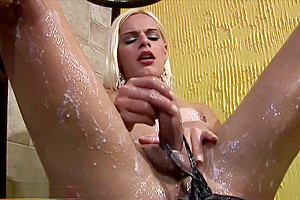 shemale prostitute Wanks Her large Shecock In Creamy Milk And Cums