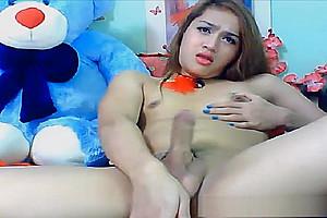Super attractive asian Ladyboy Masturbation