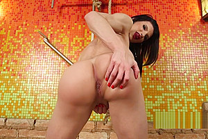 Tranny wanks cock eager for fuck