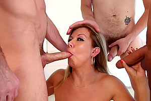 tasty lady-man With giant milk shakes In A bunch-sex