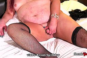 Curvy Redhead Nathalie Presley - TGirlBBW