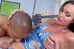 Latina Tgirl Jonelle Brooks dominates in anal sex with a hunk dude