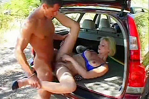 Hot sex by car