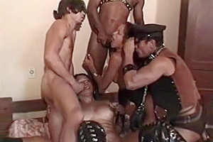 Sexy Shemale and Boy Hammered by Black Stud