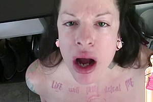 Shemale Transexual Sucks Big Uncut Black Dick and cums on it