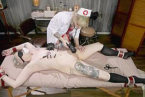 Perverted Nurse Binds and Fucks her Patient