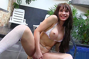 Lactating ladyman Esmeralda Brazil acquires Creative With Her arse