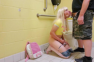Trap Creampied and Abused Hard in Public Bathroom