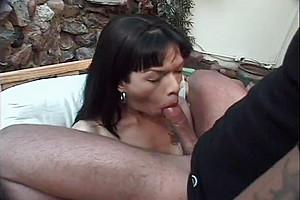 Hot Tranny Taina Gives Head & Gets Plowed