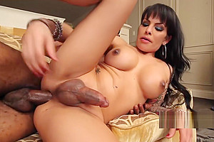 Tgirl fucked and facialized by black cock