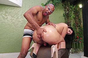 Kessia Brunelly Gets Her Big TS Ass Fucked and Fingered