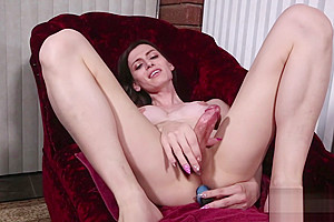 Skinny Tgirl Enjoys Stuffing Her Ass With Toy