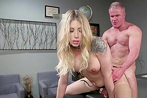Custodian Anal Fuck Blonde Shemale Boss