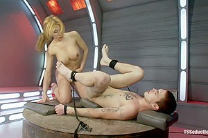 Attack of the Ts Clones: Cop taken to a Sci-fi lab and fucked by Ts COCK