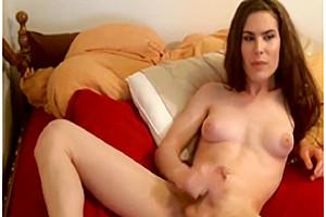 Horny homemade shemale clip with Webcam, Masturbation scenes