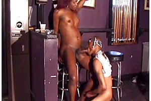 Dirty ebony sex in public