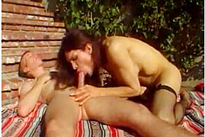 Sweet shemale gets fucked near the pool