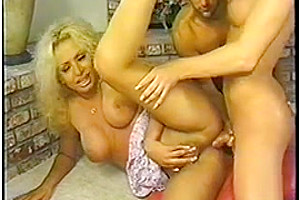 Two blond Tgirls suck chaps tool